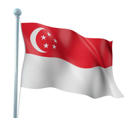 Singapore Flag Detail Render Editorial