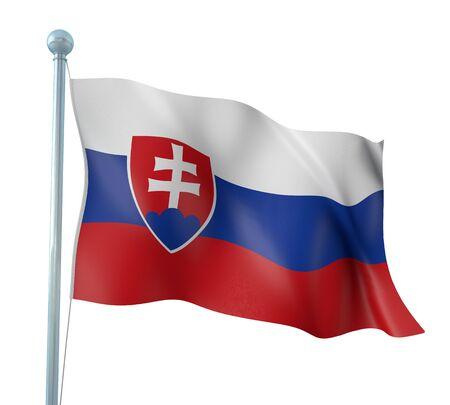 slovak: Slovak Flag Detail Render Stock Photo