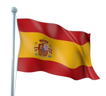 Spain Flag Detail Render Stock Photo - 14158567