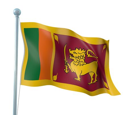 Sri Lanka Flag Detail Render photo