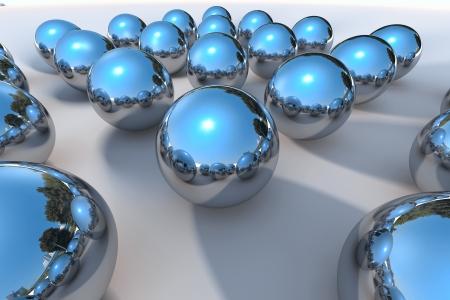 3D Chrome Ball  Stock Photo