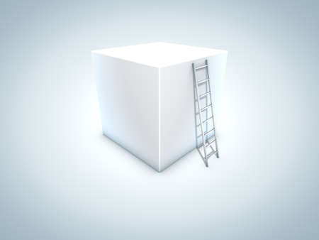 3D Box and Stair photo