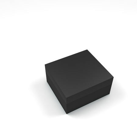 3d box with different color and angle