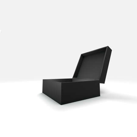 3d box with different color and angle  photo