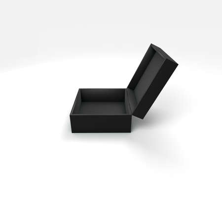 high angle view: 3d box with different color and angle