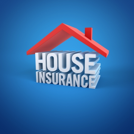 building insurance: House Insurance Stock Photo