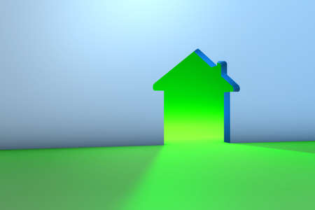 3D Green Home Stock Photo - 14906012