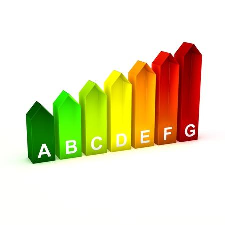 Energy Saving Bars Stock Photo
