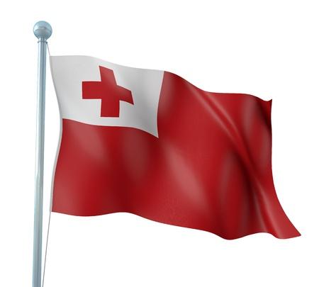 tonga: Tonga Flag Detail Render Stock Photo