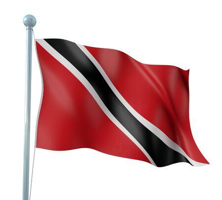 trinidad: Trinidad and Tobago Flag Detail Render