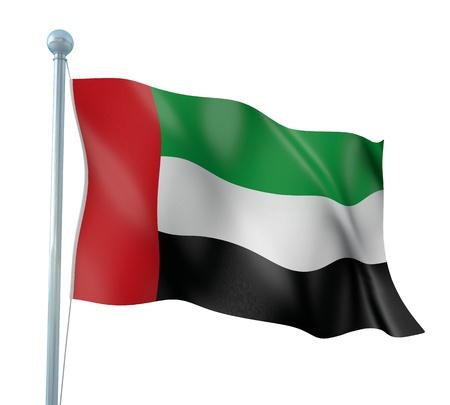 arab flags: United Arab Emirates Flag Detail Render