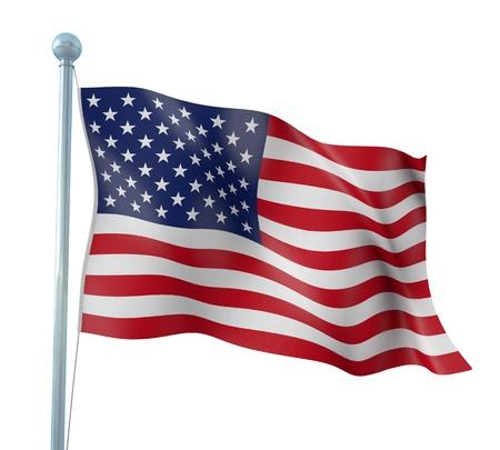 bandiera stati uniti: Stati Uniti d'America del Dettaglio Bandiera Render Archivio Fotografico