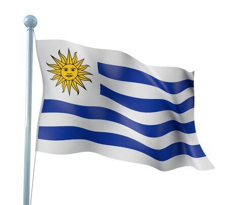 uruguay flag: Uruguay Flag Detail Render