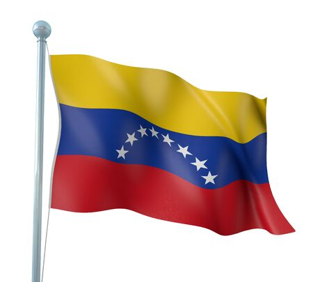 Venezuela Flag Detail Render photo