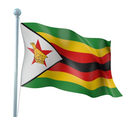 zimbabwe: Zimbabwe Flag Detail Render