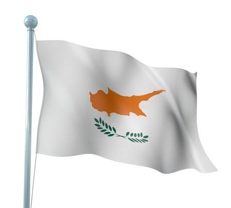 Cyprus Flag Detail Render
