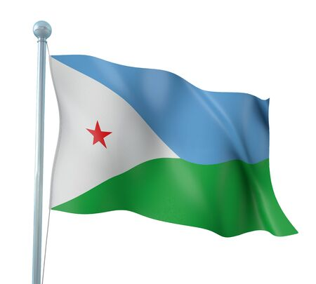 Djibouti Flag Detail Render