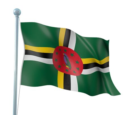 dominica: Dominica Flag Detail Render