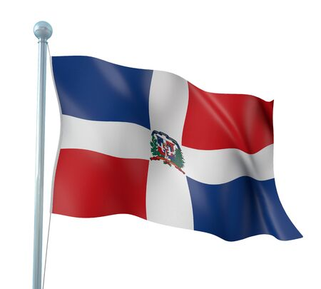 republic dominican: Dominican Republic Flag Detail Render