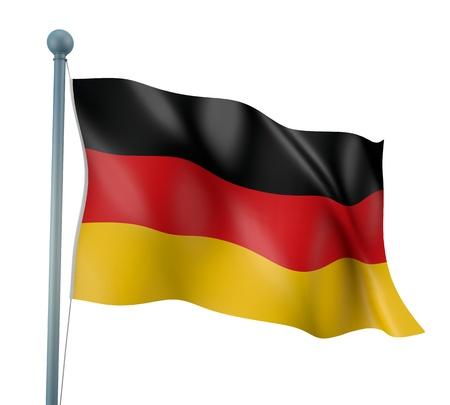 Allemagne Drapeau Rendu d�taill� Banque d'images