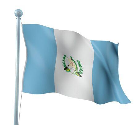 Guatemala Flag Detail Render photo