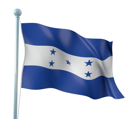 honduras: Honduras Flag Detail Render Stock Photo