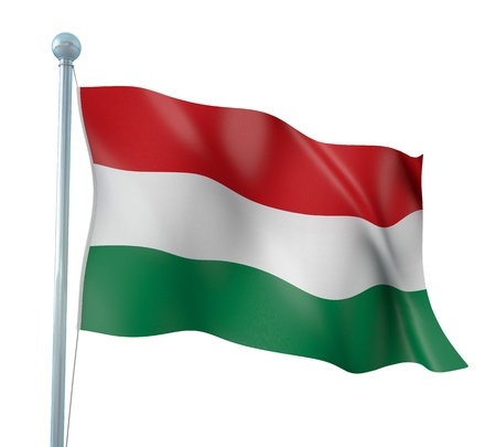 Hungary Flag Detail Render