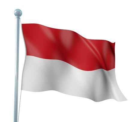 Indonesia Flag Detail Render Stock Photo