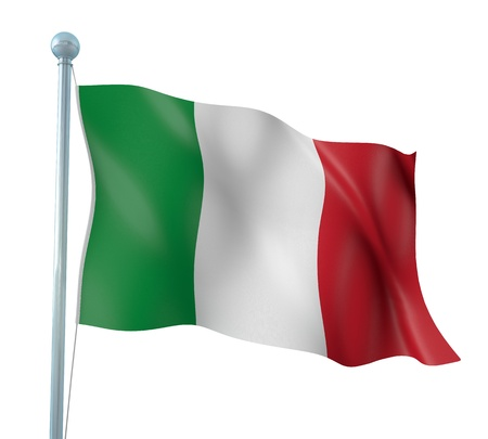 italy flag: Bandera de Italia Detalle Render Foto de archivo