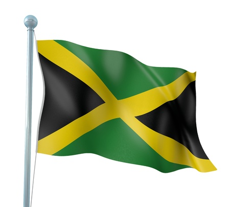 Jamaica Flag Detail Render Stock Photo - 14906064