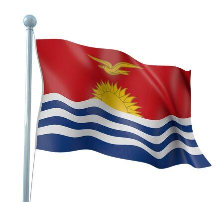 kiribati: Kiribati Flag Detail Render