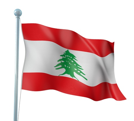 Lebanon Flag Detail Render Stock Photo - 14906065