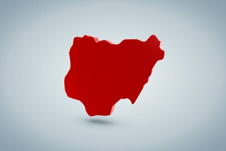 Nigeria Map  photo
