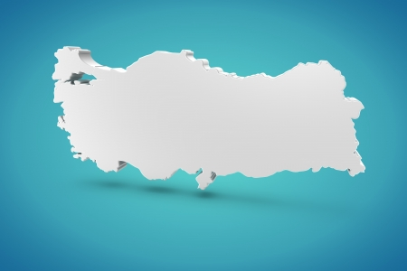 Turkey Map Stock Photo - 14917727