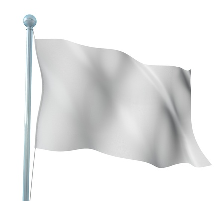 country flags: White Flag Template Detailed Render