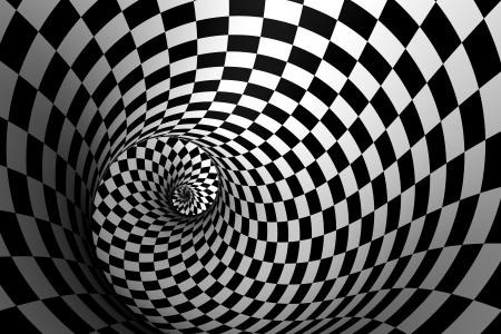 black liquid: 3D Spiral Stock Photo