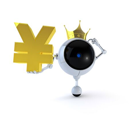 Robot with Signs Stock Photo - 14910088