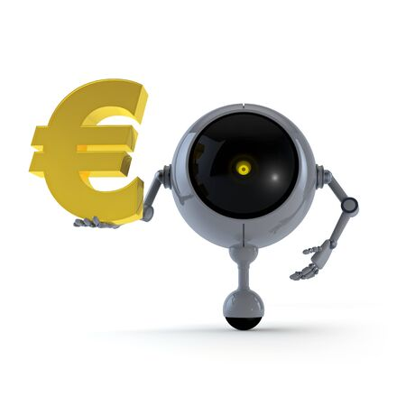 Robot with Signs Stock Photo - 14911680