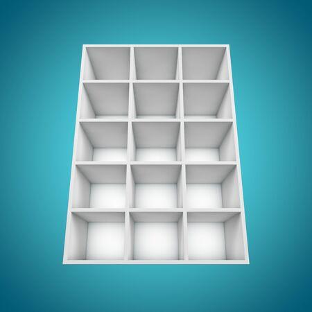 3D Different angle Bookshelf  photo