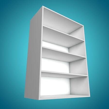 3D Different angle Bookshelf Stock Photo - 14910540