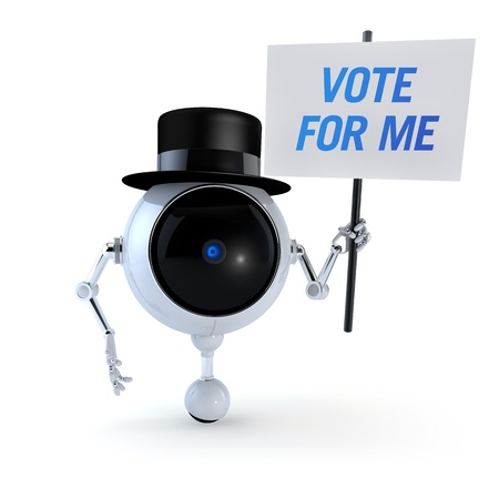 collectible: Politic Robot Vote For Me