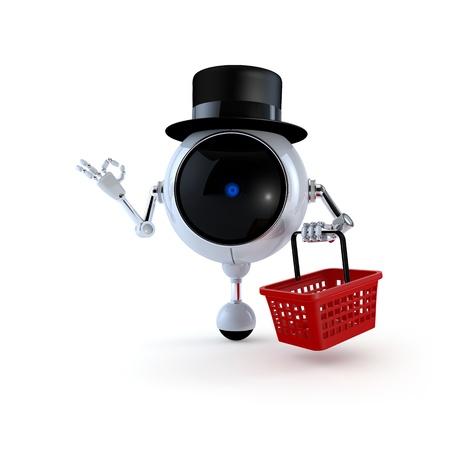 Politic Robot in Market photo