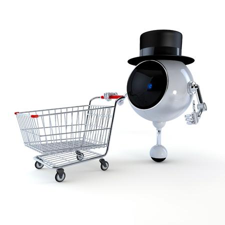 Robot Politique en march� Banque d'images