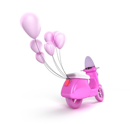 Scooter with Balloons