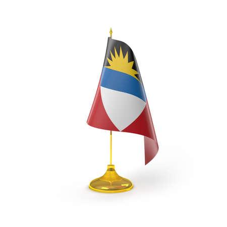 antigua flag: Antigua Flag Detail Render Stock Photo