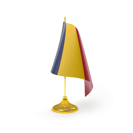 Chad Flag Detail Render Stock Photo