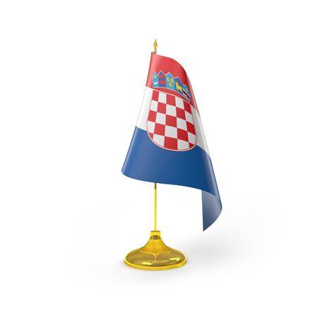 bandiera croazia: Croazia Bandiera Render Dettaglio Archivio Fotografico