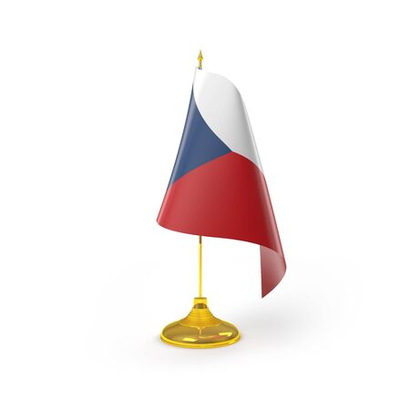 Czech Republic Flag Detail Render  photo