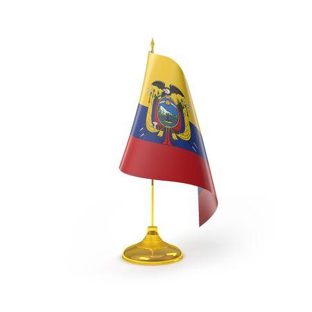 republic of ecuador: Ecuador Flag Detail Render