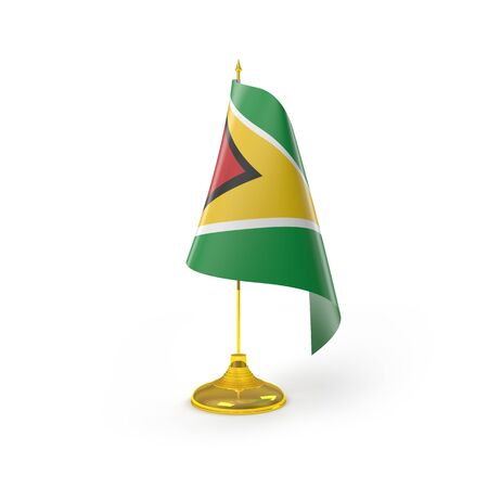 guyan: Guyana Flag Detail Render Stock Photo